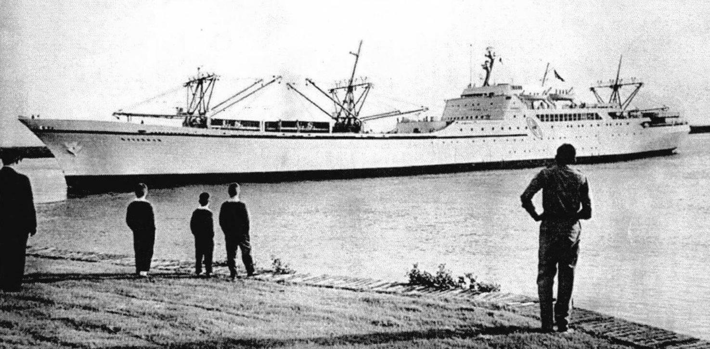 Атомоход «Саванна» в порту приписки, города Саванна. Май 1967