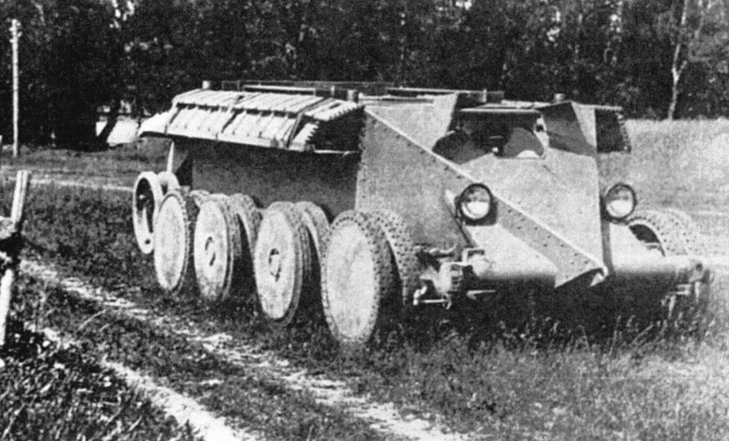 Танк Кристи во время испытаний в СССР. 1931 год