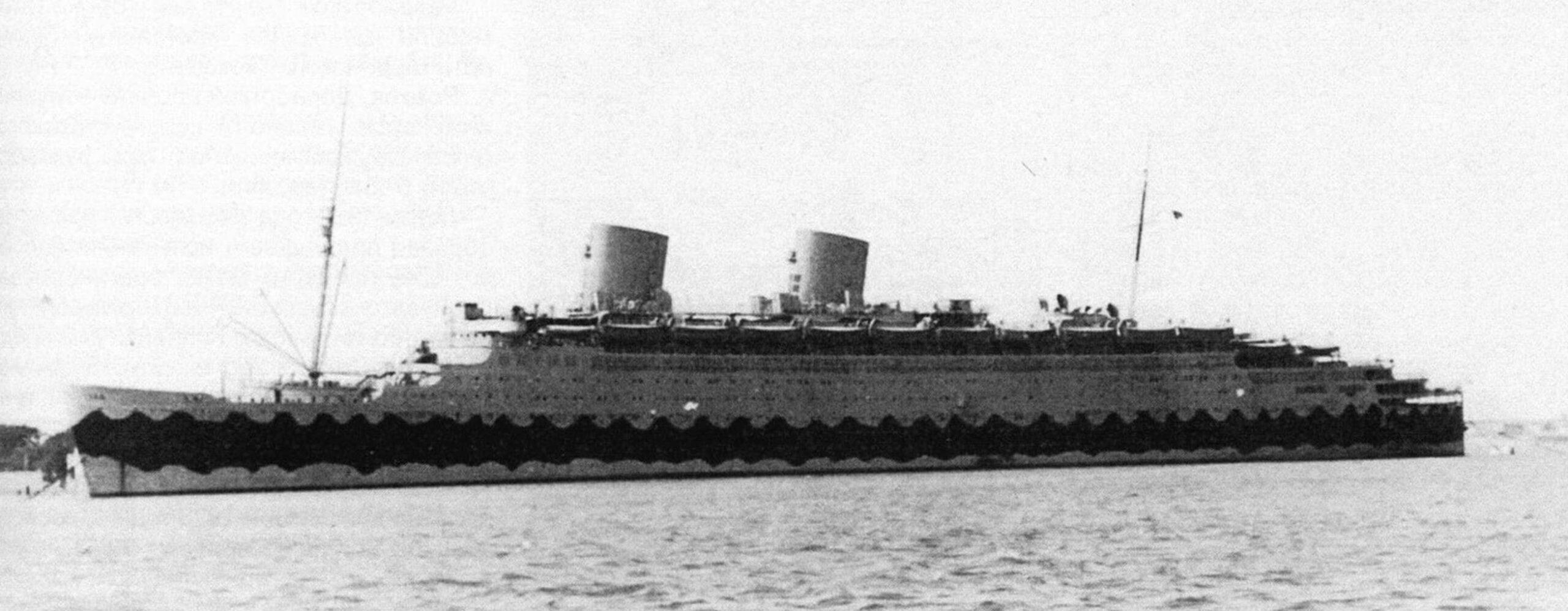 «Конте ди Савойя» на отстое в Венеции (период Второй мировой войны)