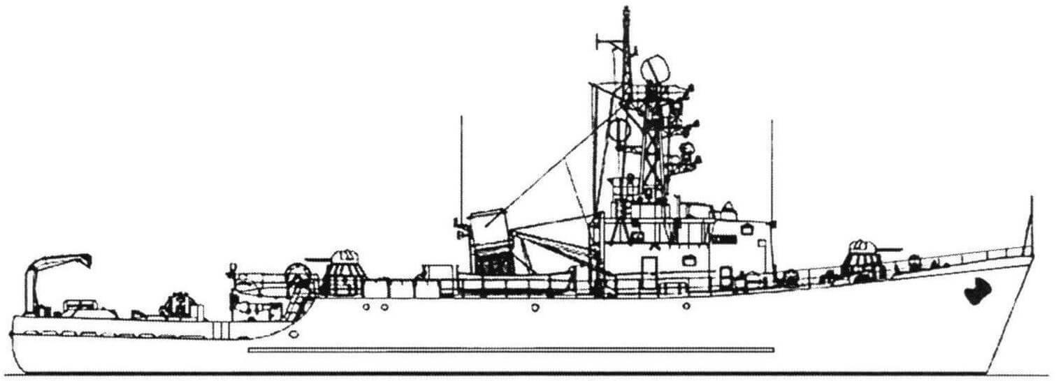 Морской тральщик проекта 266