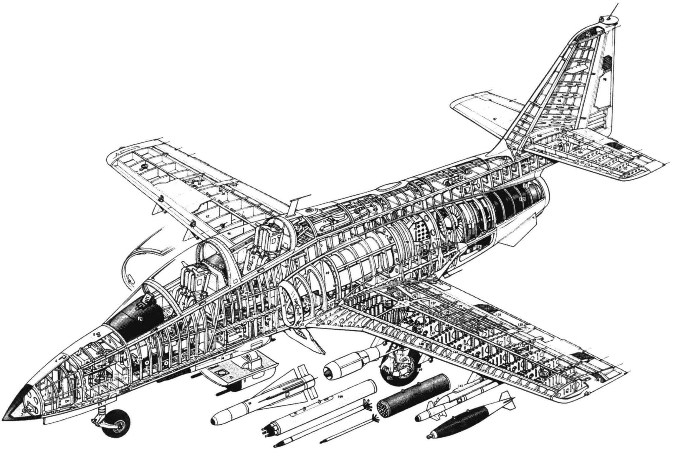 CASA С.101 Aviojet. Компоновочная схема