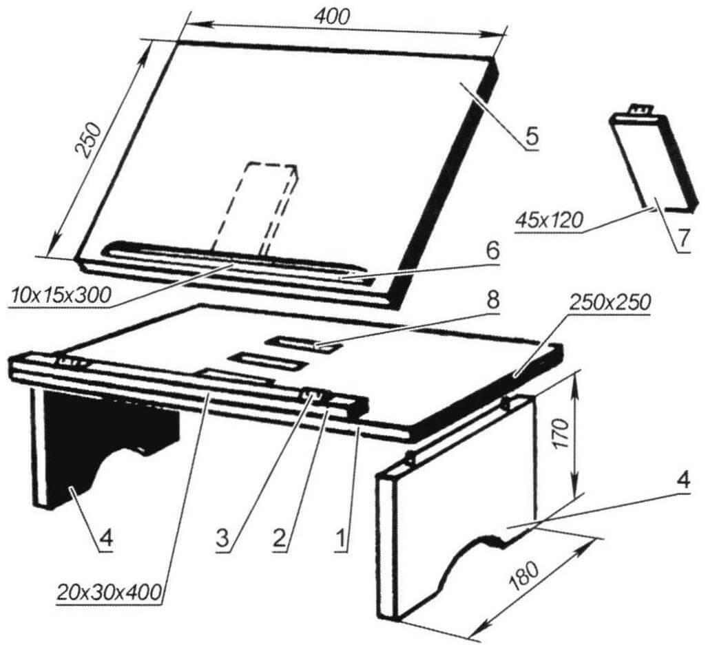 Постельный столик